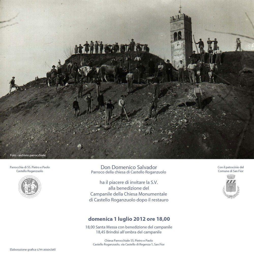 Locandina Benedizione del campanile Castello Roganzuolo