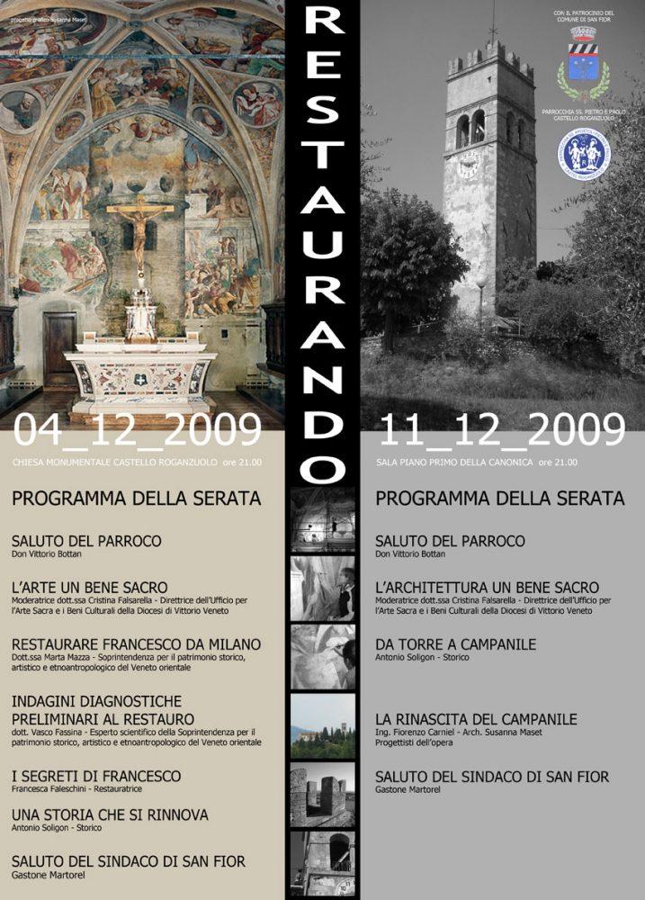 Locandina Restaurando.. il campanile di Castello Roganzuolo